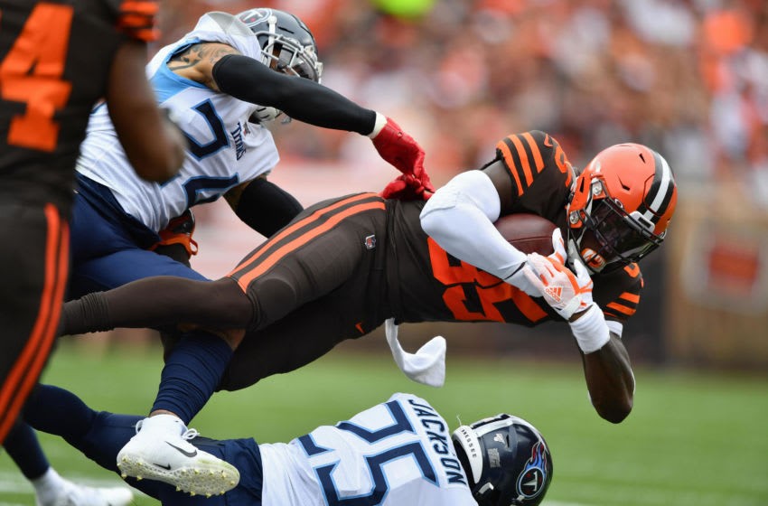 Cleveland Browns David Njoku. (Photo by Jamie Sabau/Getty Images)