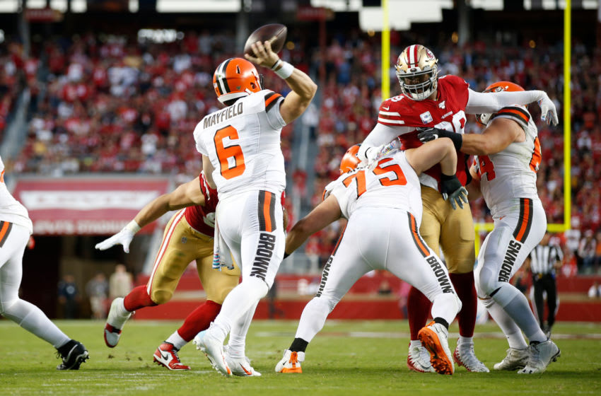 Cleveland Browns Baker Mayfield (Photo by Michael Zagaris/San Francisco 49ers/Getty Images)