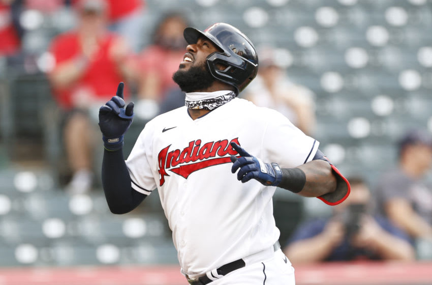 Cleveland Indians Franmil Reyes (Photo by Ron Schwane/Getty Images)
