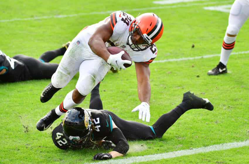 Browns Nick Chubb. (Photo by Julio Aguilar/Getty Images)