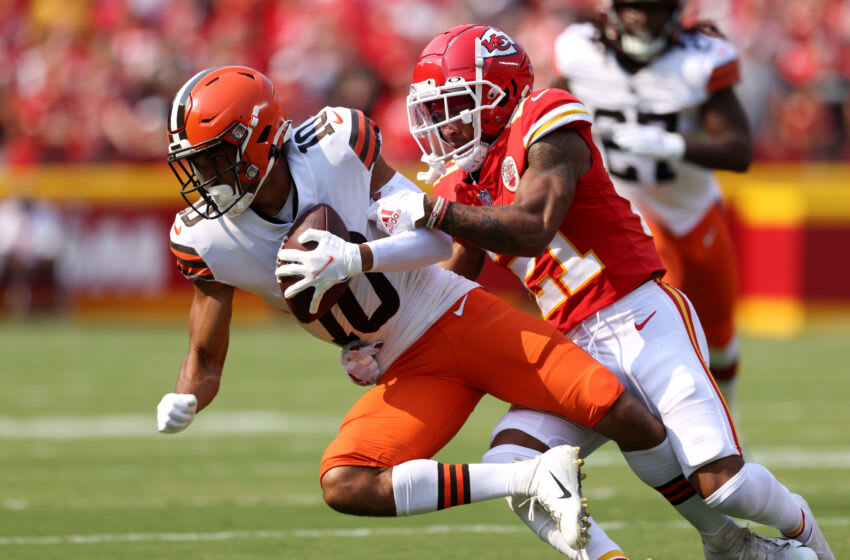 Cleveland Browns Anthony Schwartz (Photo by Jamie Squire/Getty Images)