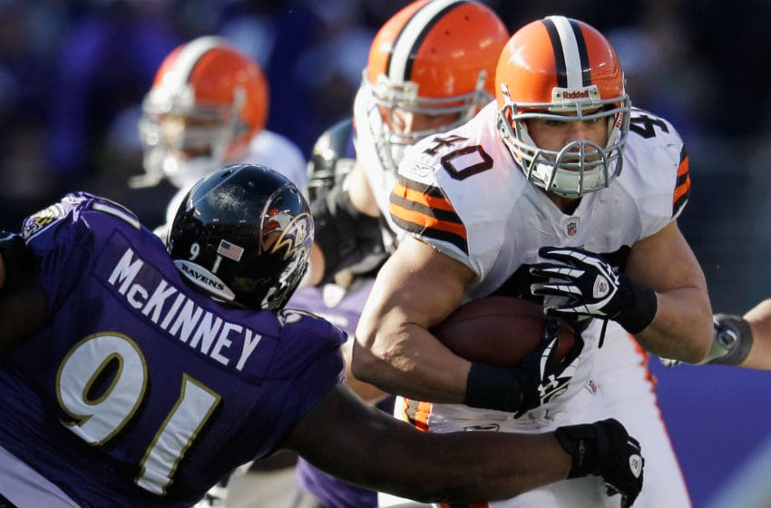 Cleveland Browns Peyton Hillis (Photo by Rob Carr/Getty Images)