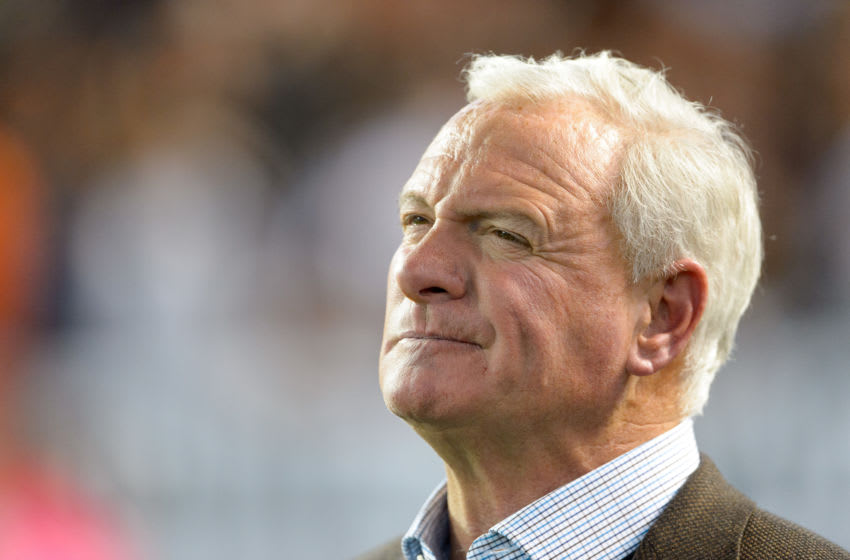 CLEVELAND, OH - OCTOBER 26: Team owner Jimmy Haslam of the Cleveland Browns watches from the sidelines during the second half against the Oakland Raiders at FirstEnergy Stadium in Cleveland, Ohio. The Browns defeated the Raiders 23-13. (Photo by Jason Miller/Getty Images)