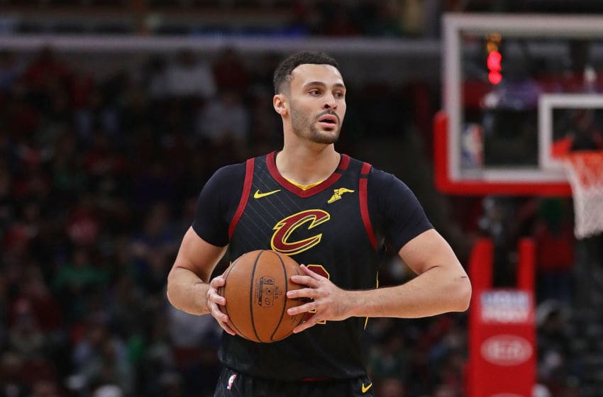 CHICAGO, ILLINOIS - MARCH 10: Larry Nance Jr. #22 of the Cleveland Cavaliers looks to pass against the Chicago Bulls at the United Center on March 10, 2020 in Chicago, Illinois. NOTE TO USER: User expressly acknowledges and agrees that, by downloading and or using this photograph, User is consenting to the terms and conditions of the Getty Images License Agreement. (Photo by Jonathan Daniel/Getty Images)