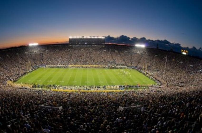 Sep 22, 2012; South Bend, IN, USA; A general view of Notre Dame Stadium during the first quarter of the game between the Notre Dame Fighting Irish and the Michigan Wolverines. Notre Dame won 13-6. Mandatory Credit: Matt Cashore-USA TODAY Sports