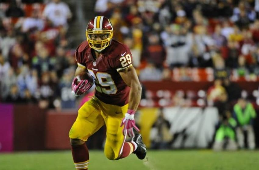 Washington Redskins' running back Roy Helu Jr. juked out Dallas Cowboys' linebacker Barry Church during Monday Night Football. Mandatory Credit: Brad Mills-USA TODAY Sports