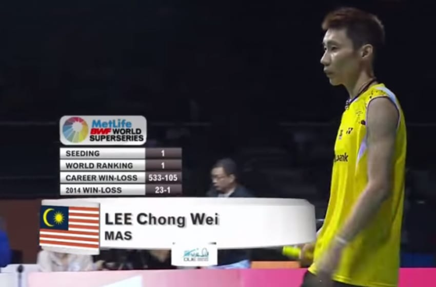 World No. 1 Lee Chong Wei tests positive for steroids. Photo Credit: YouTube