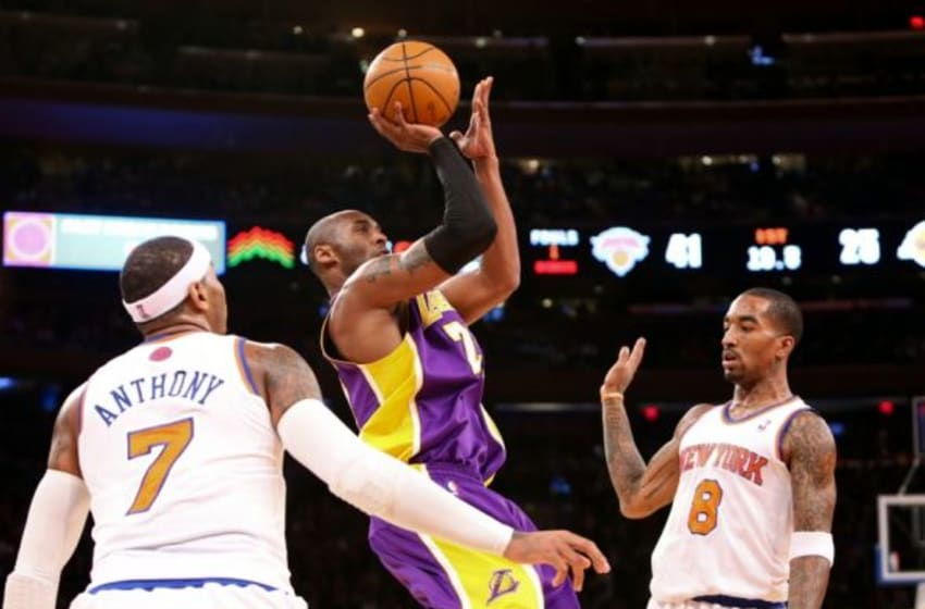 The Los Angeles Lakers are in for a rough season which has caused many to speculate they could deal NBA legend Kobe Bryant to the New York Knicks Mandatory Credit: Debby Wong-USA TODAY Sports