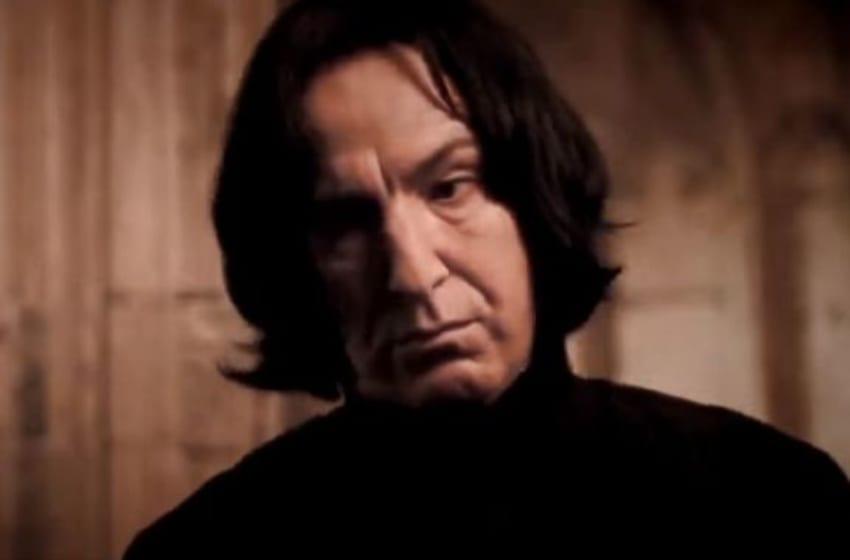 Alan Rickman as Severus Snape in