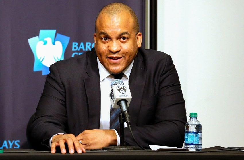 Mar 24, 2016; Brooklyn, NY, USA; Malcom Turner President, NBA Development League talks at a press conference announcing the Long Island Nets D League team before the game against the Cleveland Cavaliers at Barclays Center. Mandatory Credit: Anthony Gruppuso-USA TODAY Sports