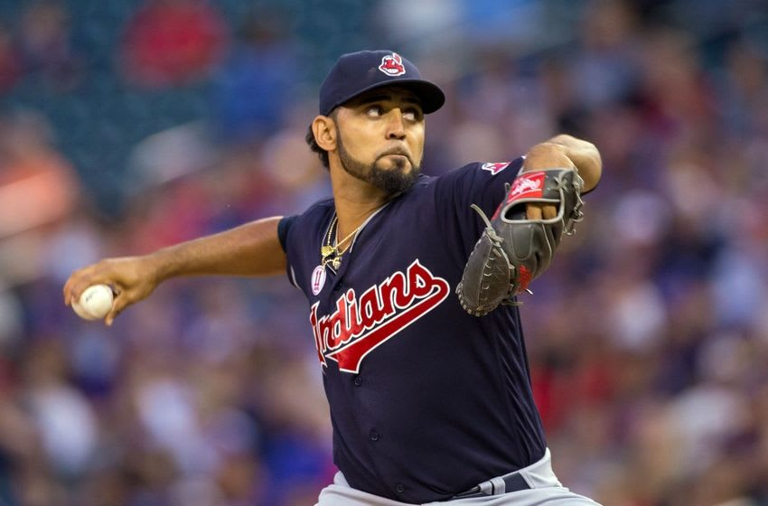 Sep 9, 2016; Minneapolis, MN, USA; Cleveland Indians starting pitcher Danny Salazar (31) pitches in the first inning against the Minnesota Twins at Target Field. Mandatory Credit: Brad Rempel-USA TODAY Sports