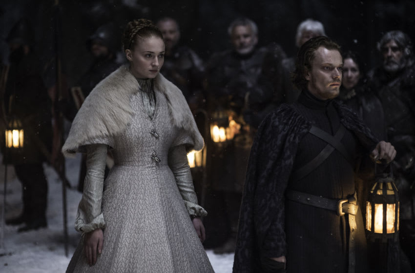 Game of Thrones Season 5, Episode 6 Sophie Turner, Alfie Allen. photo: Helen Sloan/courtesy of HBO
