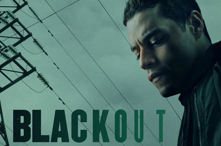 Promotional art for Blackout, which stars Rami Malek as a radio DJ in an unpredictable situation. Photo Credit: Courtesy of Ginsberg/Libby.