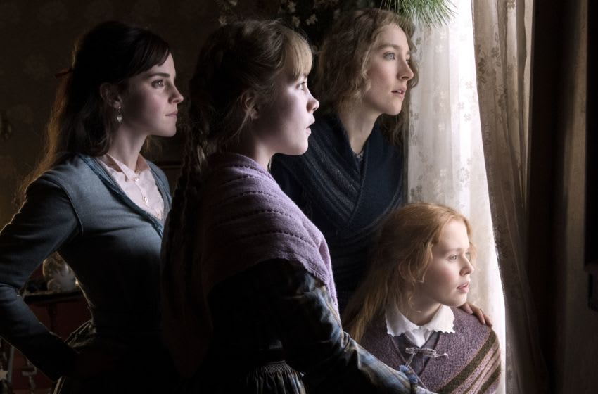 Emma Watson, Saoirse Ronan, Eliza Scanlen and Florence Pugh in Columbia Pictures' LITTLE WOMEN / Addtl. Info Photo credit: Wilson Webb; © 2019 CTMG, Inc. All Rights Reserved.