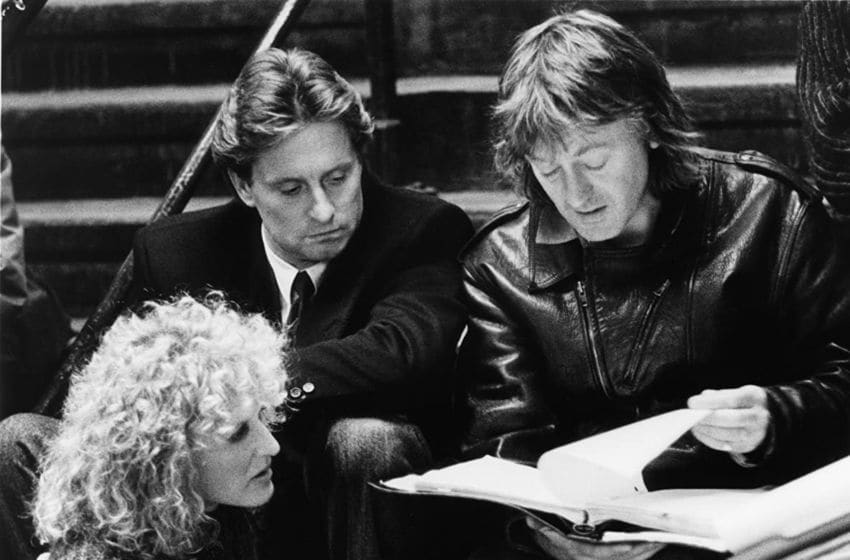 Michael Douglas, Glenn Close, and Adrian Lyne in Fatal Attraction (1987) / © 1987 - Paramount Pictures. All rights reserved.