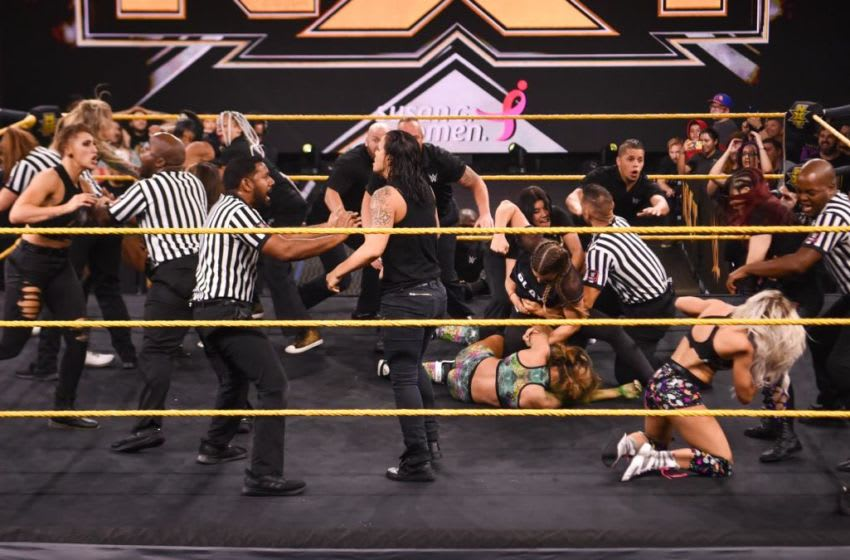 The NXT women's division descends into chaos on the Oct. 30, 2019 edition of WWE NXT. Photo: WWE.com