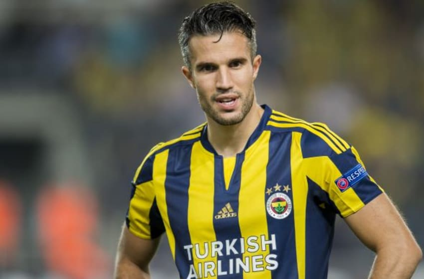 Robin van Persie of Fenerbahce during the UEFA Europa League match between Fenerbahce SK v Molde FK on September 17, 2015 at the Sukru Saracoglu stadium in Istanbul, Turkey.(Photo by VI Images via Getty Images)