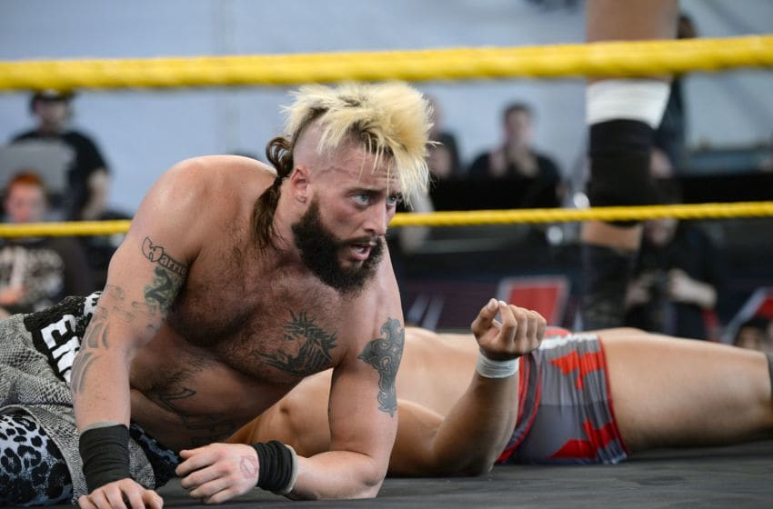 SACRAMENTO, CA - OCTOBER 24: WWE Nxt wrestler Enzo Amore performs at Gibson Ranch County Park on October 24, 2015 in Sacramento, California. (Photo by Scott Dudelson/Getty Images)