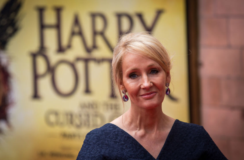 LONDON, ENGLAND - JULY 30: J. K. Rowling attends the press preview of 'Harry Potter