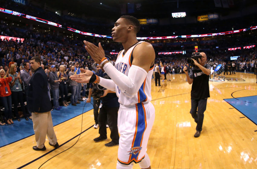 OKLAHOMA CITY, OK- MARCH 31: Russell Westbrook