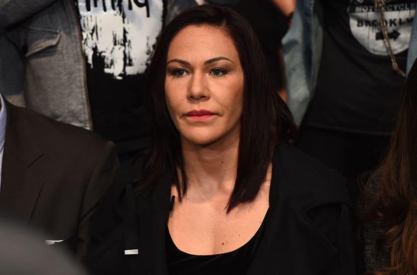 BROOKLYN, NEW YORK - FEBRUARY 11: Cris Cyborg of brazil watches the fights during the UFC 208 event inside Barclays Center on February 11, 2017 in Brooklyn, New York. (Photo by Jeff Bottari/Zuffa LLC/Zuffa LLC via Getty Images)