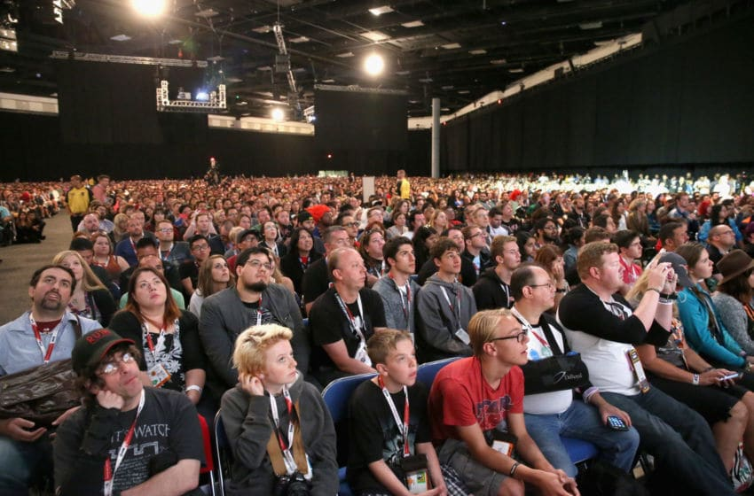 SAN DIEGO, CA - JULY 10: Star Wars fans at the Hall H Panel for