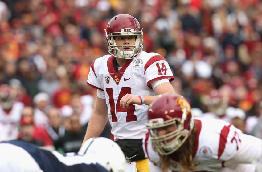 PASADENA, CA - JANUARY 02: Quarterback Sam Darnold