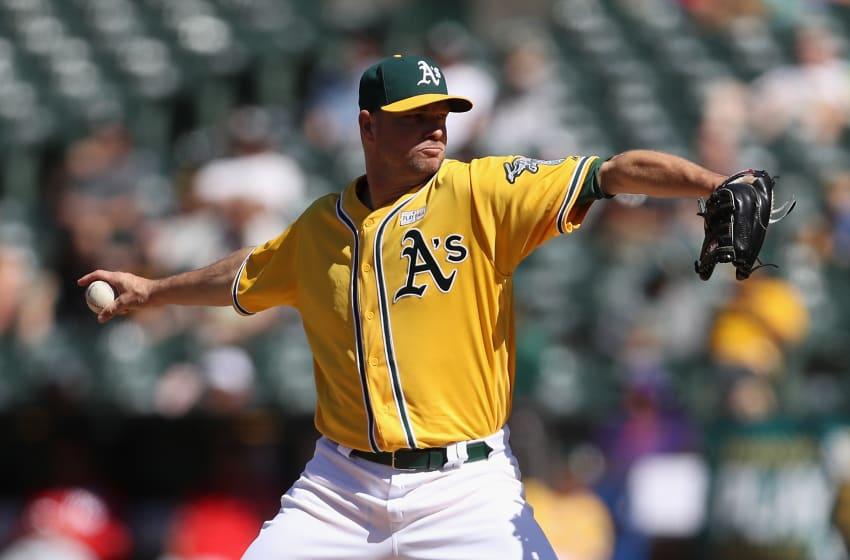 OAKLAND, AZ - JUNE 03: Relief pitcher Ryan Madson