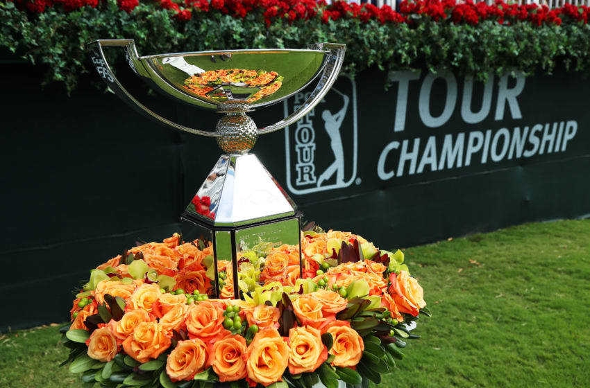 ATLANTA, GA - SEPTEMBER 24: The FedExCup trophy is displayed prior to the final round of the TOUR Championship at East Lake Golf Club on September 24, 2017 in Atlanta, Georgia. (Photo by Sam Greenwood/Getty Images)