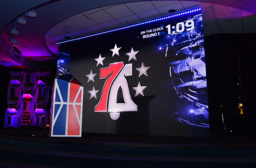 NEW YORK, NY - APRIL 04: A shot of 76ers GC on the clock during the NBA2K Draft on April 4, 2018 in New York, New York at the Hulu Theater. NOTE TO USER: User expressly acknowledges and agrees that, by downloading and/or using this photograph, user is consenting to the terms and conditions of the Getty Images License Agreement. Mandatory Copyright Notice: Copyright 2018 NBAE (Photo by Jennifer Pottheiser/NBAE via Getty Images)
