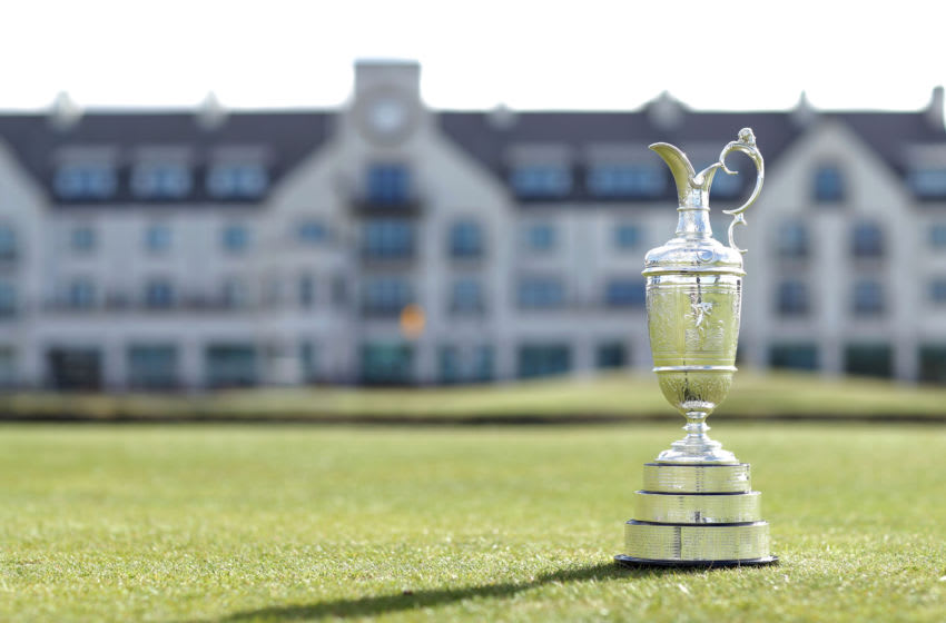CARNOUSTIE, SCOTLAND - APRIL 24: A view of The Claret Jug for The Open Championship media day at Carnoustie Golf Links on April 24, 2018 in Carnoustie, Scotland. The 147th Open Championship will take place at Carnoustie between 19th-22nd July 2018 (Photo by Richard Heathcote/Getty Images)