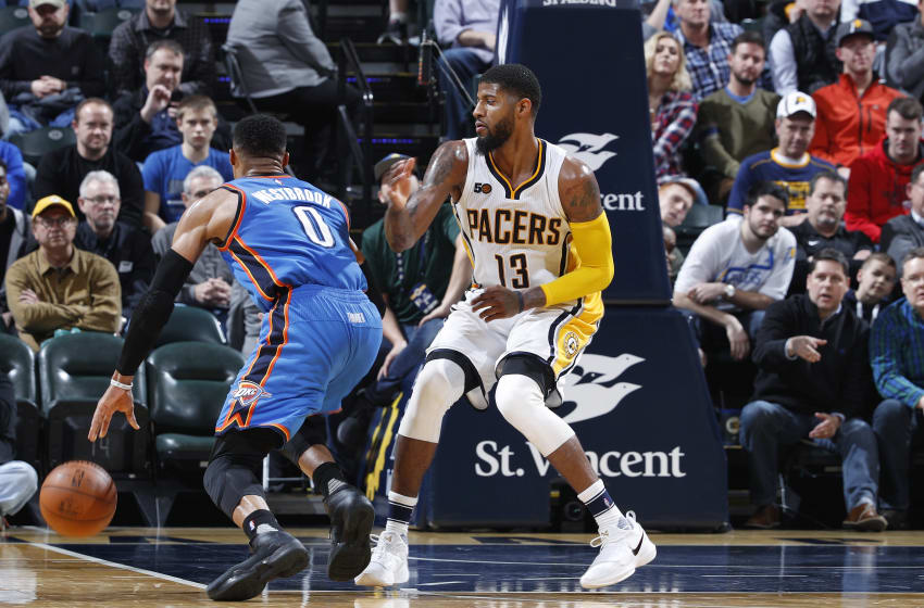 INDIANAPOLIS, IN - FEBRUARY 06: Paul George