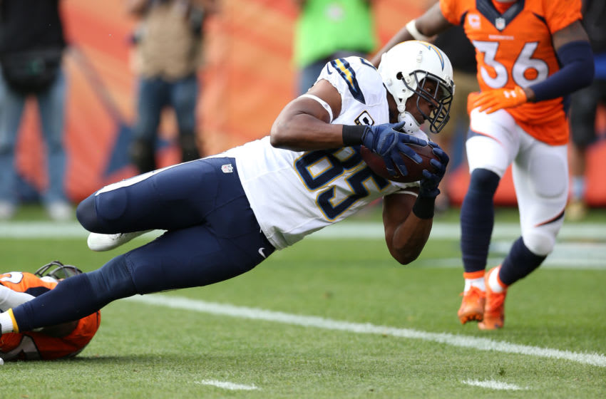DENVER, CO - OCTOBER 30: Antonio Gates
