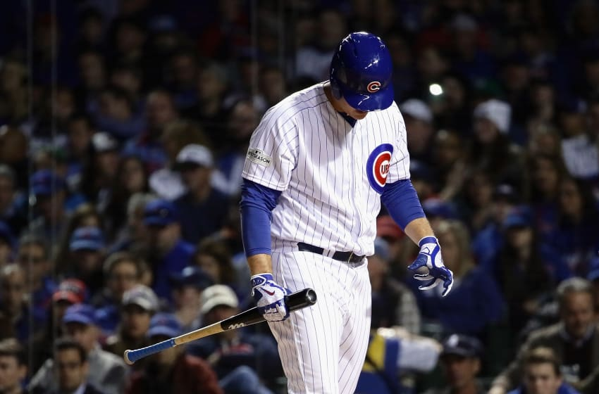 CHICAGO, IL - OCTOBER 18: Anthony Rizzo