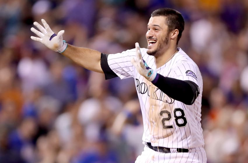 DENVER, CO - AUGUST 01: Nolan Arenado