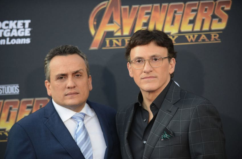 LOS ANGELES, CA - APRIL 23: Directors Joe Russo and Anthony Russo arrive for the Premiere Of Disney And Marvel's 'Avengers: Infinity War' held on April 23, 2018 in Los Angeles, California. (Photo by Albert L. Ortega/Getty Images)