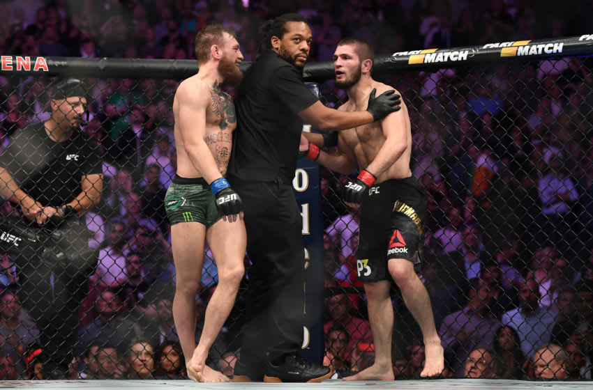 Conor McGregor et Khabib Nurmagomedov (Photo de Jeff Bottari / Zuffa LLC / Zuffa LLC via Getty Images)