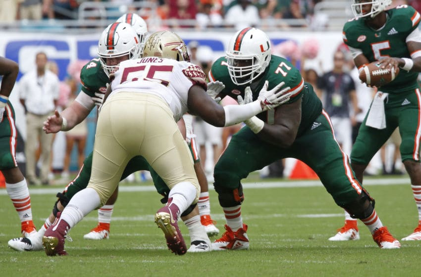 Florida State Seminoles, Miami Hurricanes. (Photo by Joel Auerbach/Getty Images)