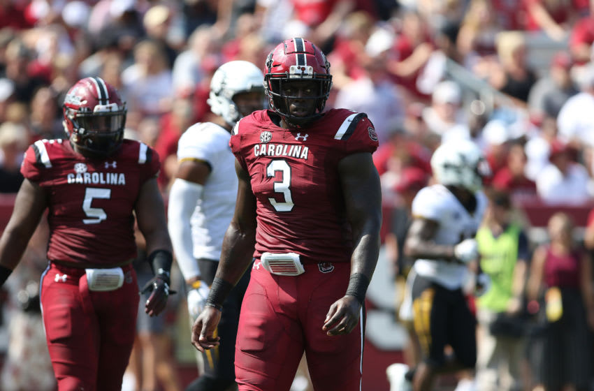 Javon Kinlaw, South Carolina Gamecocks. (Photo by John Byrum/Icon Sportswire via Getty Images)