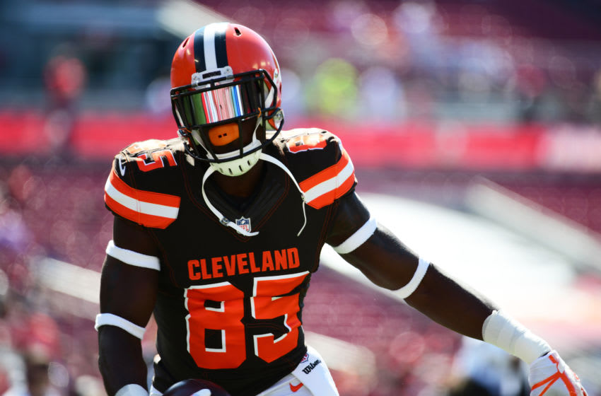 David Njoku, #85, Cleveland Browns, (Photo by Julio Aguilar/Getty Images)