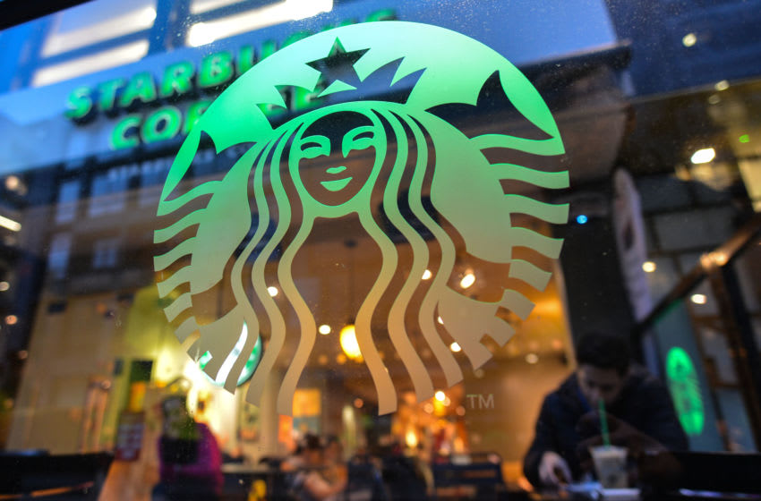 Starbucks Coffee in Dublin's City Center. On Monday, December 17, 2018, in Dublin, Ireland. (Photo by Artur Widak/NurPhoto via Getty Images)