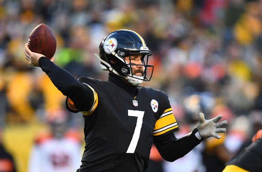 PITTSBURGH, PA - DECEMBER 30: Ben Roethlisberger #7 of the Pittsburgh Steelers in action during the game against the Cincinnati Bengals at Heinz Field on December 30, 2018 in Pittsburgh, Pennsylvania. (Photo by Joe Sargent/Getty Images)