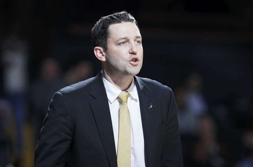 NASHVILLE, TN - JANUARY 29: Head coach Bryce Drew of the Vanderbilt Commodores looks on against the Kentucky Wildcats during the game at Memorial Gym on January 29, 2019 in Nashville, Tennessee. Kentucky won 87-52. (Photo by Joe Robbins/Getty Images)