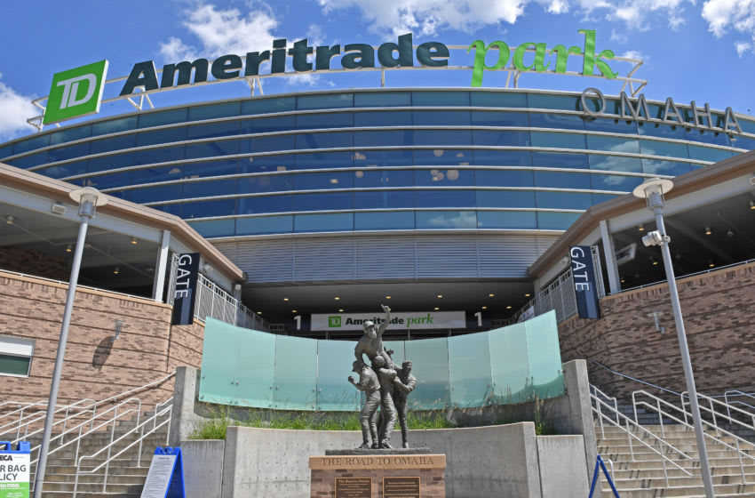 OMAHA, NE - JUNE 24: A general view of TD Ameritrade Park Omaha, prior to game one of the College World Series Championship Series between Michigan and Vanderbilt on June 24, 2019 at in Omaha, Nebraska. (Photo by Peter Aiken/Getty Images)