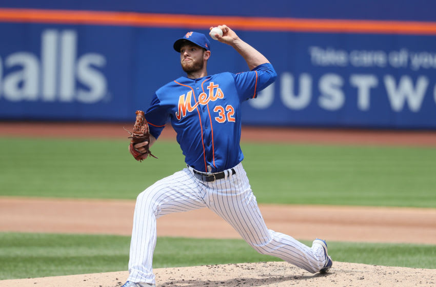 NEW YORK, NEW YORK - MAY 23: Steven Matz #32 of the New York Mets pitches against the Washington Nationals during their game at Citi Field on May 23, 2019 in New York City. (Photo by Al Bello/Getty Images)