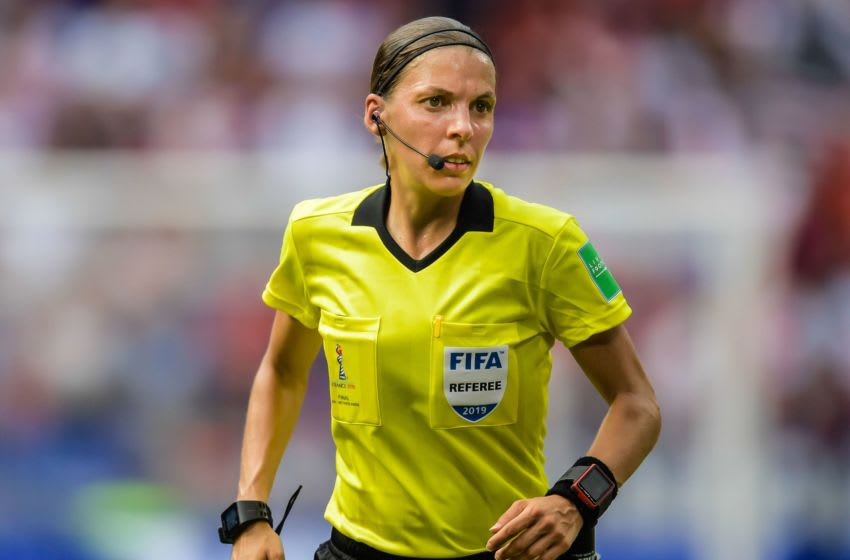 referee Stephanie Frappart during the FIFA Women's World Cup France 2019 final match between United States of America and The Netherlands at Stade de Lyon on July 07, 2019 in Lyon, France(Photo by VI Images via Getty Images)