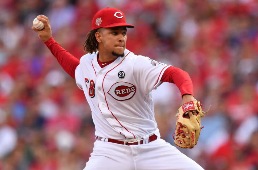 CINCINNATI, OH - JULY 20: Luis Castillo #58 of the Cincinnati Reds pitches in the second inning against the St. Louis Cardinals at Great American Ball Park on July 20, 2019 in Cincinnati, Ohio. (Photo by Jamie Sabau/Getty Images)
