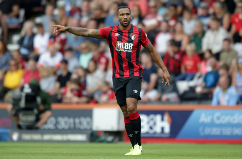 BOURNEMOUTH, ENGLAND - AUGUST 03: Callum Wilson of Bournemouth during the Pre-Season Friendly match between AFC Bournemouth and Lyon at Vitality Stadium on August 03, 2019 in Bournemouth, England. (Photo by Robin Jones - AFC Bournemouth/AFC Bournemouth via Getty Images)