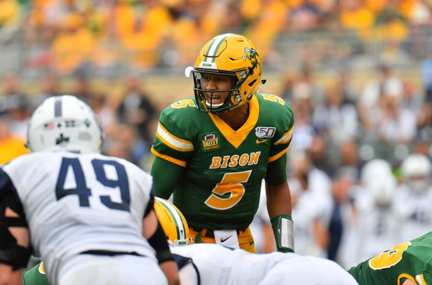 Trey Lance, North Dakota State Bison. (Photo by Sam Wasson/Getty Images)