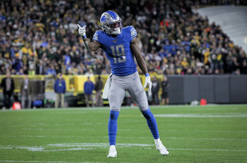 GREEN BAY, WISCONSIN - OCTOBER 14: Kenny Golladay #19 of the Detroit Lions (Photo by Dylan Buell/Getty Images)